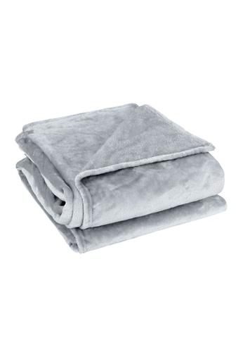 Charles Millen silver Suzanne Sobelle Flannel Blanket 5601FHL708D3DFGS_1