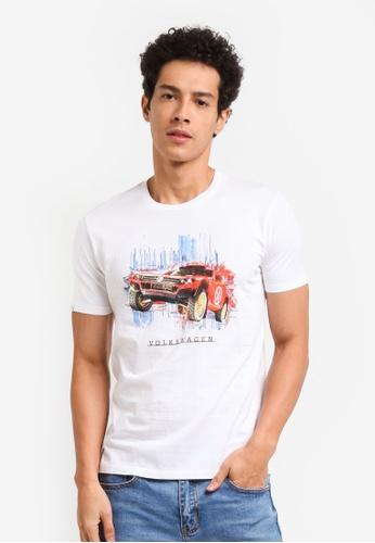 Volkswagen 白色 Volkswagen休閒印花T恤 D0334AAF6EDC0CGS_1