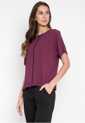 MARKS & SPENCER purple Short Sleeve Kimono Top ADDACAADFC64FFGS_1