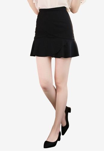 Eyescream black Peplum Hem Mini Skirt DFAACAAD59B93FGS_1