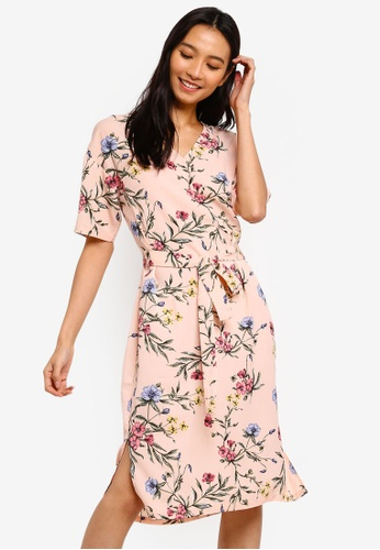 59b8dc848ea3 Buy ZALORA Split Hem Basic Midi Dress Online on ZALORA Singapore