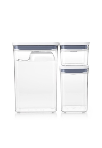 Oxotot n/a Good Grips POP Container, Three Piece Rectangle Set with Scoop F8C08HLC898594GS_1