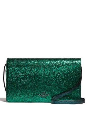 Coach green Foldover Clutch Crossbody Bag 3B743AC5B156B8GS_1