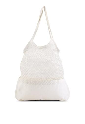 Rubi white Woven Shopper Bag 2F7BBAC36E461FGS_1