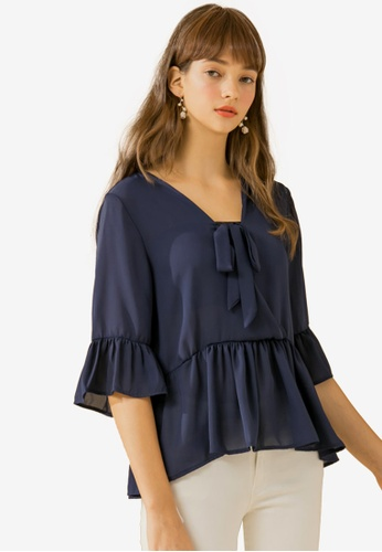 8ea52b64985 Buy Eyescream Flutter Sleeve Blouse Online on ZALORA Singapore