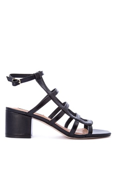Steve Madden black Ilari Leather Upper Heeled Sandals F13D5SHD879B21GS_1
