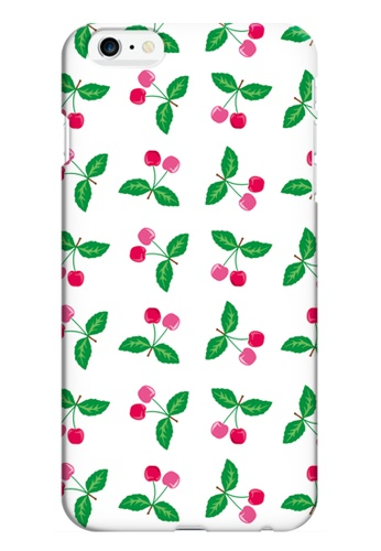 Wonder Cover red and green and multi Cherries Hard Case for iPhone 6 WO617AC17TVYPH_1