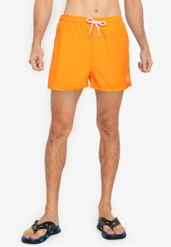 Aeropostale orange A87 Swim Shorts 463E6USF04483CGS_1