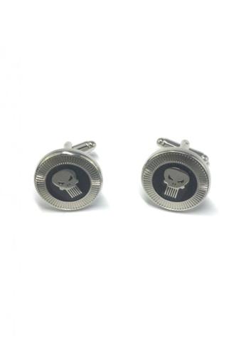 Splice Cufflinks silver The Phantom Badge Cufflinks SP744AC75FUQSG_1