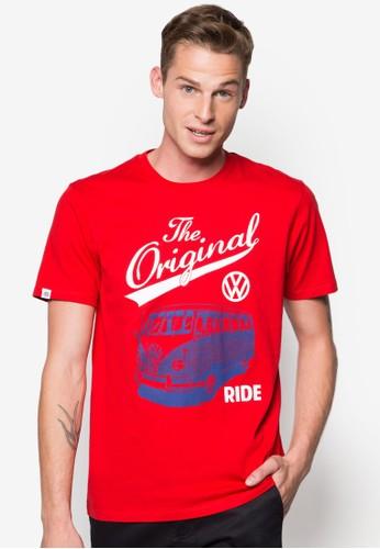 貨車圖案esprit地址文字Tee, 服飾, 印圖T恤