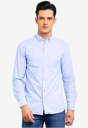 MANGO Man 藍色 休閒襯衫 0B4B5AAF0AD54DGS_1