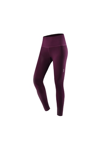 681ce53739428d VIVIESTA SPORT red Ribbed High-Rise Athletics Sports Leggings  73AC2AA6B1E20EGS_1