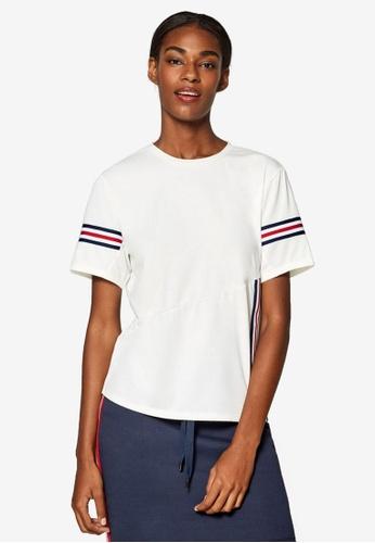 ESPRIT white Short Sleeve T-Shirt 3DBB3AA3D5E4E4GS_1