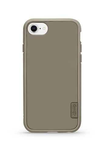 Casetify beige DTLA Impact Resistant Case for iPhone 7/8 in Sand 690FFAC6E594FBGS_1