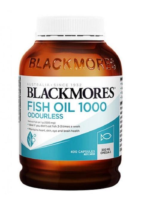 BLACKMORES BLACKMORES - 無腥味魚油丸1000 400粒 ODOURLESS FISH OIL