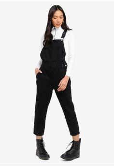 20e357c86c TOPSHOP black Petite Washed Black Slim Leg Dungarees E6145AADF1D53AGS 1