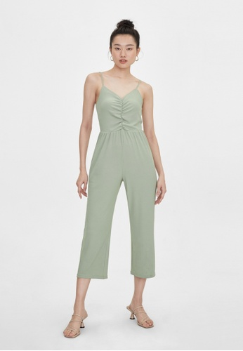 Pomelo blue Rib Ruched Jumpsuit - Mint 0CEE2AAF6717ACGS_1
