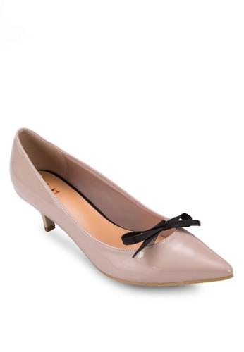 尖頭esprit 童裝蝴蝶結細跟鞋, 女鞋, 鞋