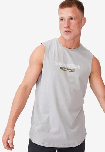 Cotton On grey Longline Scoop Muscle Top B5606AAEA78E89GS_1