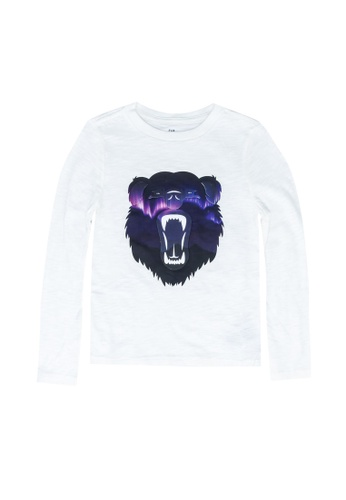 GAP white Long Sleeve Graphic Tee 0DF28KAB6D6ADBGS_1