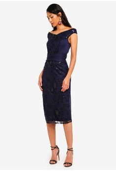 5553a8334a 60% OFF Dorothy Perkins Navy  Sophie  Midi Bodycon S  143.00 NOW S  56.90  Sizes 6 8 12