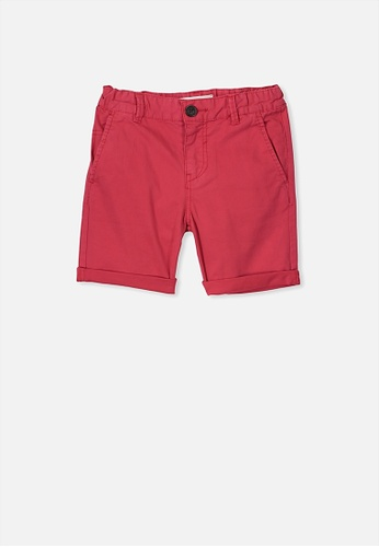 Cotton On Kids red Walker Chino Short 9E8E6KA7F66BD2GS_1