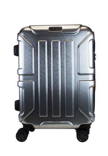"""Lushberry silver Apache Hardcase Cabin Size Luggage-20"""" 1A929AC8653439GS_1"""