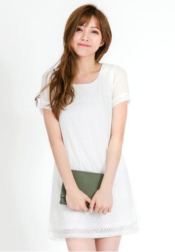 Tokichoi white Lace Shift Dress FE6F3AA30DDBBCGS_1