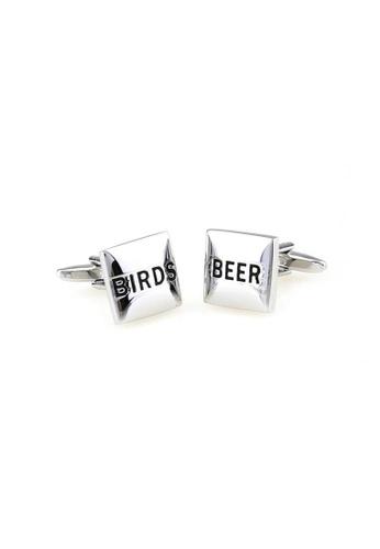 The Little Link Cufflinks silver Birds and Beer cufflinks TH089AC0FSVESG_1