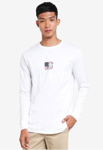 Cotton On white TBar Collaboration Long Sleeve Tee E2164AAB2523B3GS_1