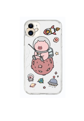 Kings Collection white Planet Pig Phone 12 Case (KCMCL2228) A6EE8AC377659EGS_1