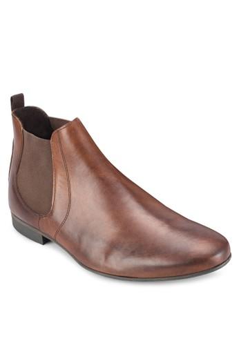 esprit台灣Topo Chelsea 皮革短靴, 鞋, 鞋