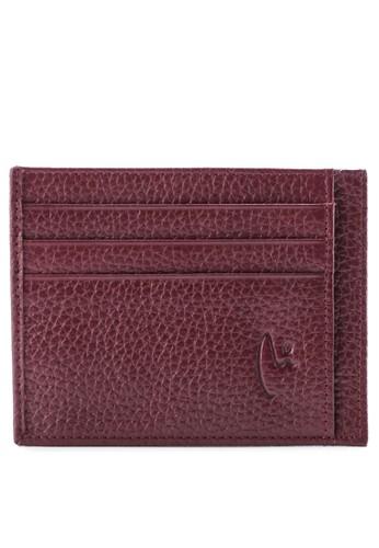 Vermont red Genuine Leather Slim Card Holder 89DA3ACC5BBCB1GS_1