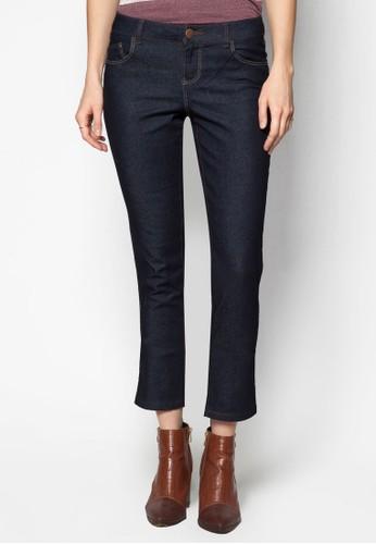 窄管水洗zalora 衣服評價丹寧長褲, 服飾, 緊身牛仔褲