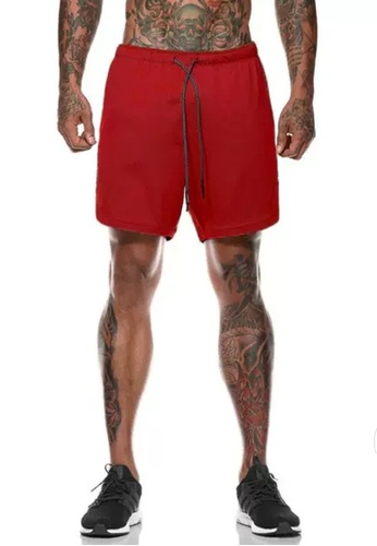 Twenty Eight Shoes red VANSA  Casual Double Layer Sports Shorts VCM-St063 D7527AA2531246GS_1