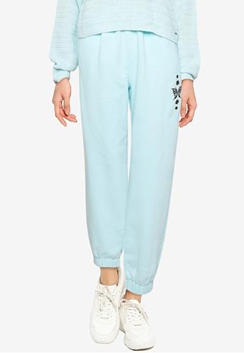 Hollister blue Chain Trend Dad Jogger Pants 16D99AAA4E4ACEGS_1