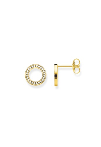 "THOMAS SABO gold ear studs ""Circles Large"" CA268ACF00ADE1GS_1"