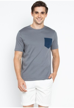 8e61e3addafa8 REIN   PAUL grey Contrast Pocket Crew Neck T-shirt 422BAAA3C18A73GS 1