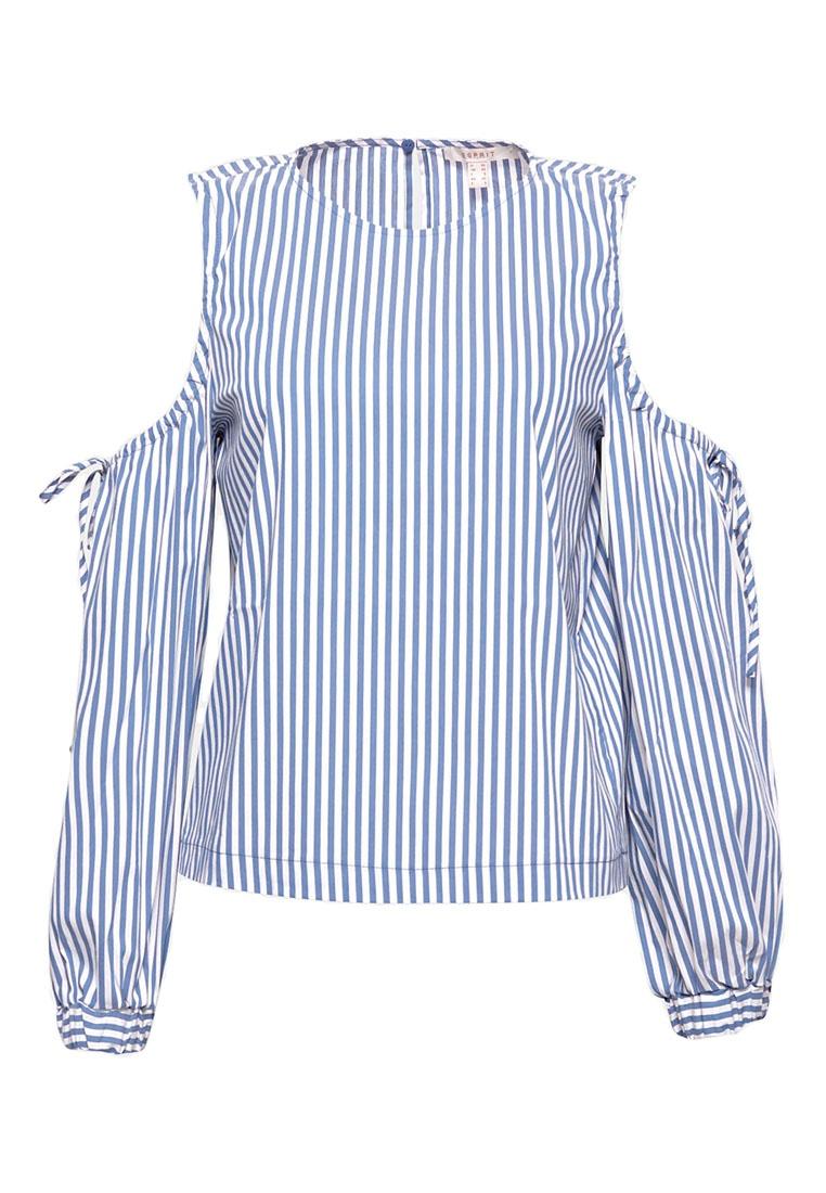 Blouse Sleeve Long ESPRIT Woven Blue 7xntZvwUf