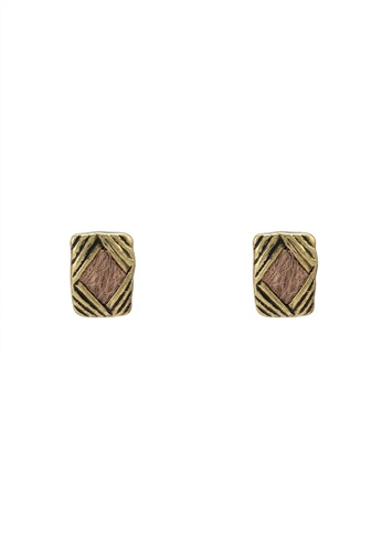 niko and ... gold Bristle Earrings 10513AC7CE22EFGS_1
