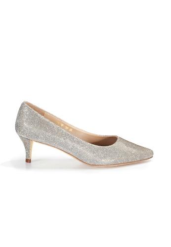 Shu Talk gold LeccaLecca Stylish Med High Heels In Gorgeous Gold D6B96SH9DD369FGS_1