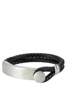 Men's Braided Pu Wristband
