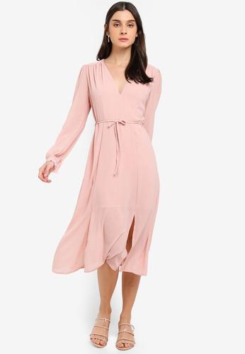 b5eba617908bbd Buy Glamorous Gathered Crepe Midi Dress Online on ZALORA Singapore