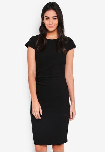 Vero Moda black Jonie Cap Sleeve Dress CD958AAFD58E54GS_1