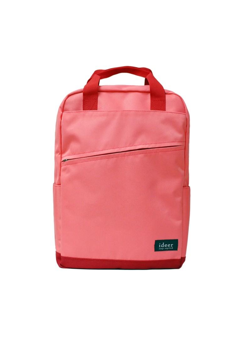 Hayden Peach Water Repellent Nylon Laptop Two-way Backpack