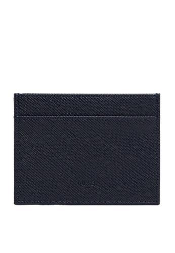 MANGO Man blue Saffiano-Effect Cardholder B100EAC9616161GS_1