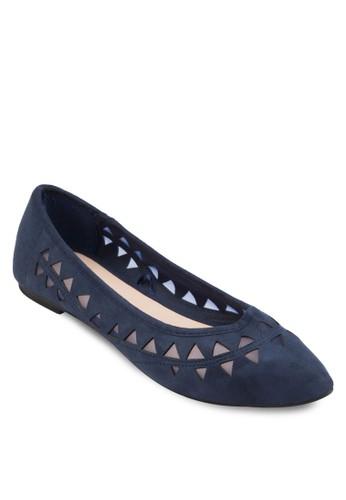 Try 鏤空尖頭平底esprit hk鞋, 女鞋, 鞋