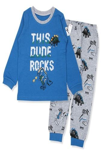 Organic mom blue Organic Boys Blue Homewear Casualwear Pajamas B782DKA89C77BEGS_1