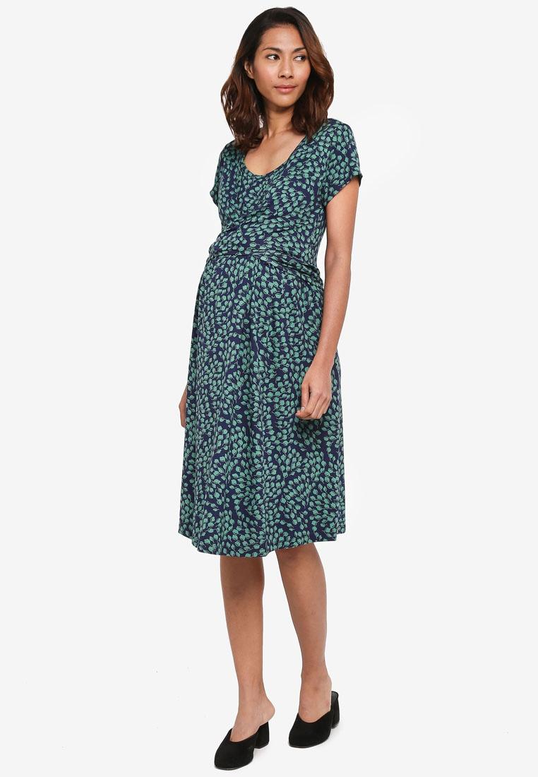 JoJo Bud Maternity Tie Dress Maman Navy Bébé qHdtawdZ