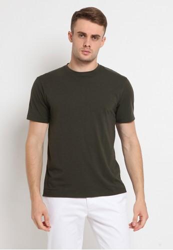 The Executive green Basic Round Neck T-Shirt 6C7B1AA28DCB33GS_1